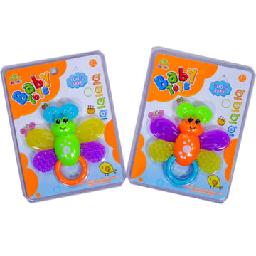 TOMINDO BUTTERFLY TEETHER - RANDOM COLOUR NON TOXIC_2