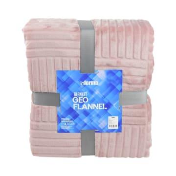 SELIMUT GEO FLANNEL 220X240 CM - PINK_2