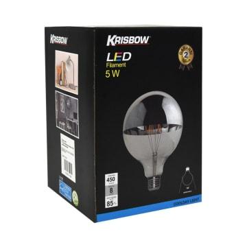 KRISBOW BOHLAM LED FILAMEN GLOBE G125 5W - COOL DAYLIGHT_2