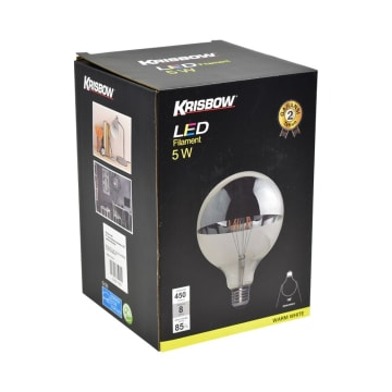KRISBOW BOHLAM LED FILAMEN G125 5W - WARM WHITE_2