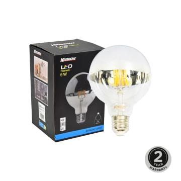 KRISBOW BOHLAM LED FILAMEN GLOBE G95 5W - COOL DAYLIGHT_1