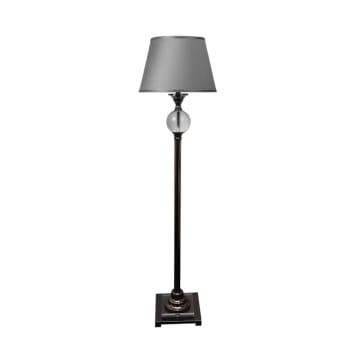 AMBROSE LAMPU LANTAI - ABU-ABU_1