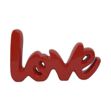 DEKORASI MEJA LOVE 25.5X5X14.5 CM - MERAH_2