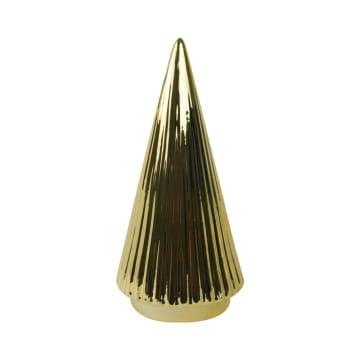 CONE TREE MINIATUR DEKORASI 11.4X11.4X23 CM - GOLD_1