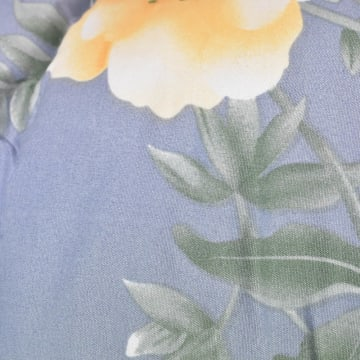 KRISHOME BED COVER FLOWER 210X220 CM - BIRU_2