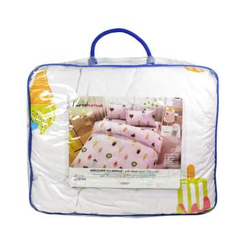 KRISHOME SET SEPRAI DAN BED COVER ANAK ICE CREAM 120X200+30 CM 4 PCS - PUTIH_3