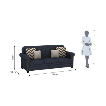 ASHLEY LAVERNIA SOFA 3 DUDUKAN - BIRU NAVY_3