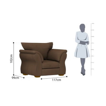 ASHLEY DARCY SOFA 1 DUDUKAN - COKELAT TUA_3