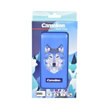CAMELION POWER BANK 3D PRINTED WOLF 8000 MAH_1