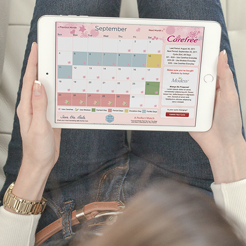 Carefree Period Calendar Web App