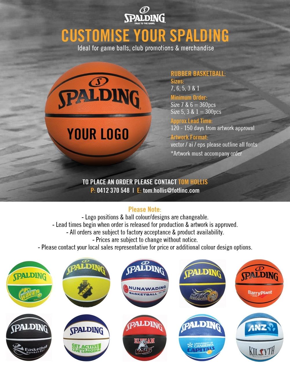 Custom Wholesale Spalding Basketballs