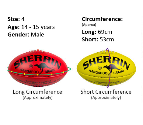 Size 4 game ball specs