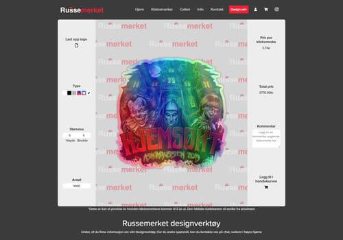 Bildet av Design selv verktøyet til Russemerket - Klistremerker for Russ