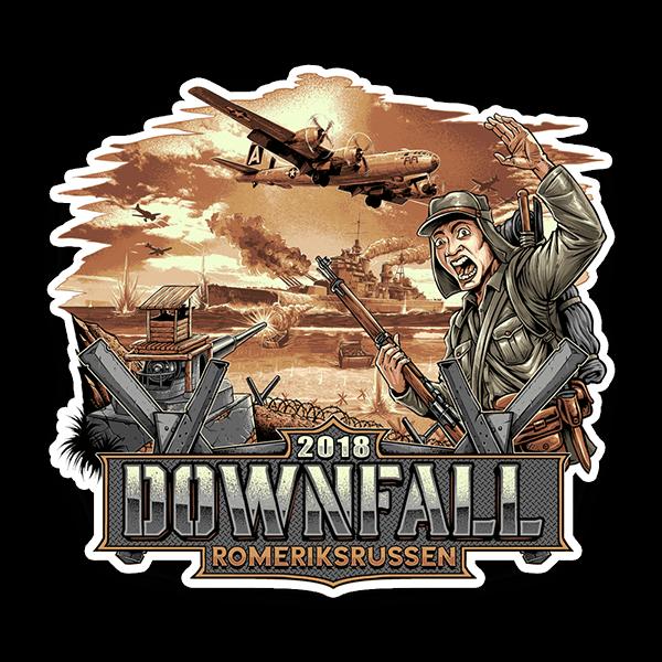 Bildet av Downfall 2018 logoen - Klistremerker fra Russemerket