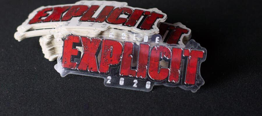 Bildet av Explicit 2020 logoen - Klistremerker fra Russemerket