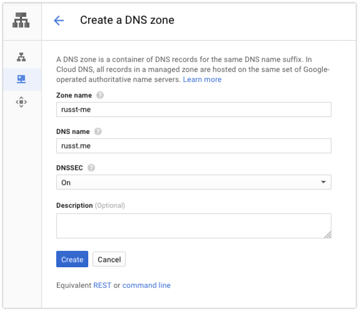Create a DNS Zone example
