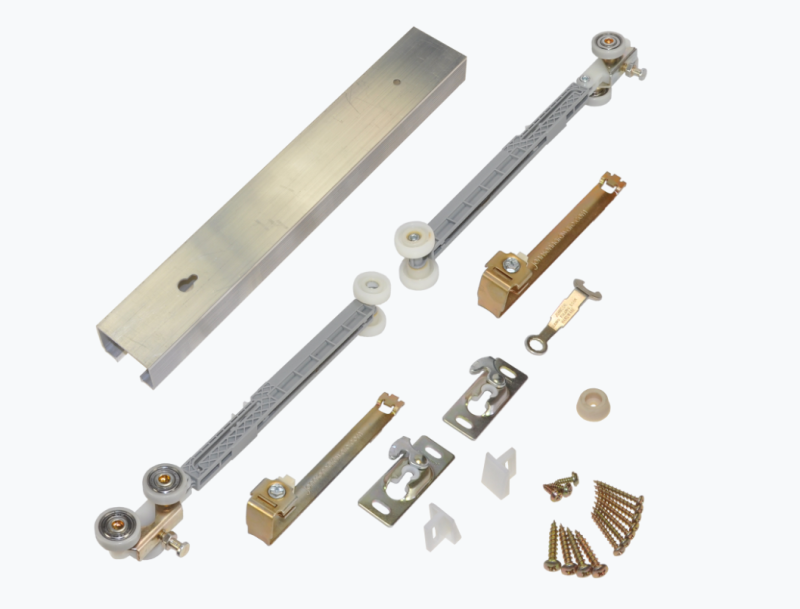 Single Pocket Door Hardware Kit With Soft Open and Close