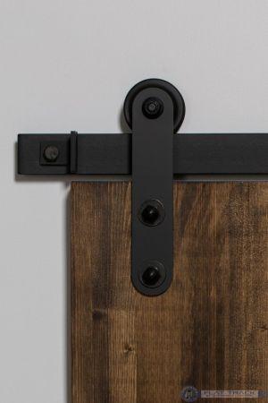 307 Top Rounded Mini Barn Door Hardware