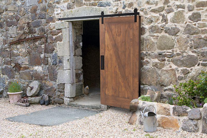 Outdoor Rated Exterior Barn Door Hardware Rustica