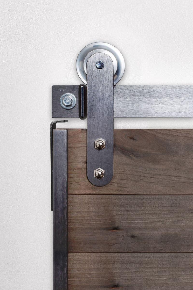 High Rise Classic Barn Door Hardware Kit Rustica Hardware
