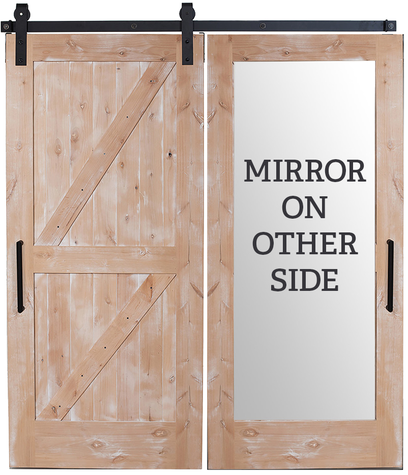 Dutch Z Mirror Barn Door Rustica Hardware
