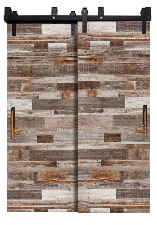Barn Wood Reclaimed Bypassing Barn Doors Rustica