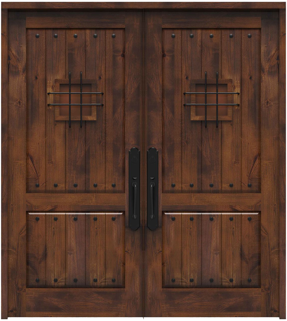 Picture of: Stronghold Double Front Door Rustica