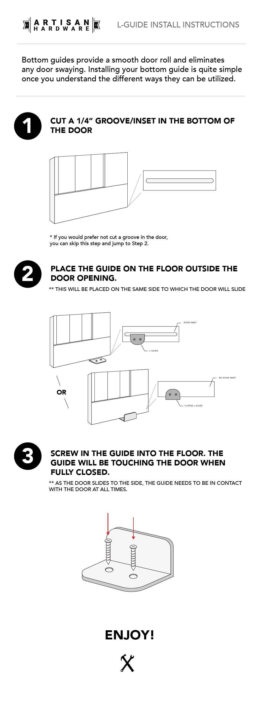 Instructions How To Install A Barn Door Artisan Hardware