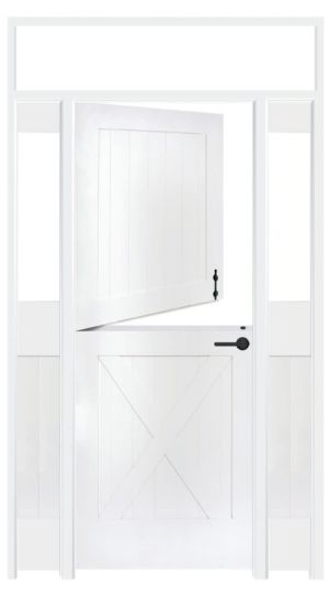 Bakery Dutch Interior Door With Sidelights And Transom Window
