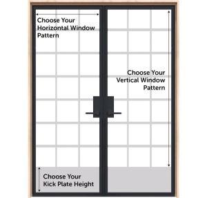 Customizable Interior Metal Double Door