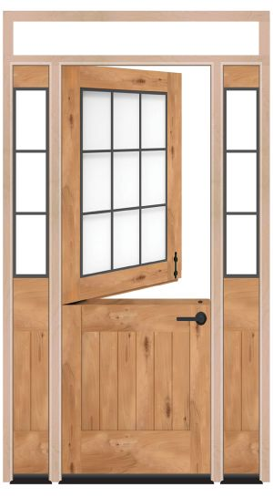 Farmhouse Dutch Exterior Door With Sidelights And Transom Window