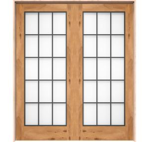 Farmhouse French Full Glass Interior Double Door