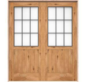 Farmhouse French Half Interior Double Door