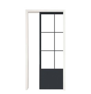 French Quarter Single Pocket Door