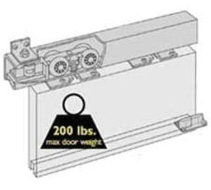 Husky 200 Box Track Sliding Door Hardware Kit