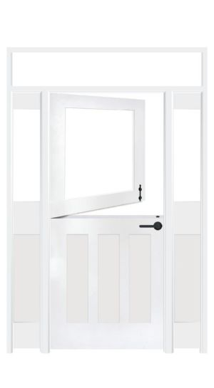 Standard Dutch Interior Door With Sidelights And Transom Window