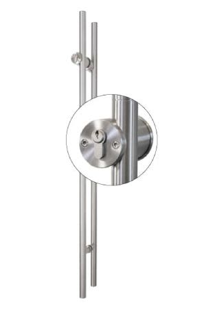 TG.1150.PZ Stiletto Locking Pair Barn Door Handle