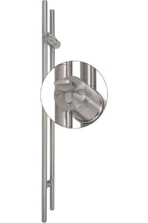 TG.1150.PZ.WC Stiletto Locking Pair Barn Door Handle