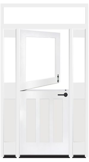 Standard Dutch Exterior Door With Sidelights And Transom Window