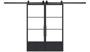 Traditional French Double Barn Door
