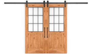 Farmhouse French Half Double Barn Door