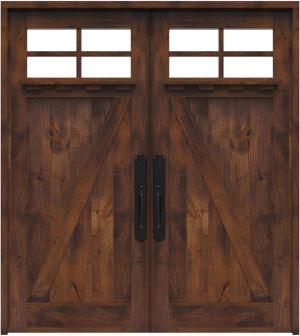 Skyline Double Front Door With Shelf