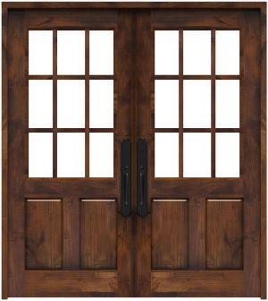 Lake House Double Front Door