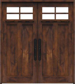 Left Fork Double Front Door With Shelf