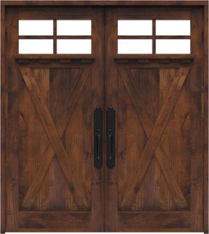 Hobble Creek Double Front Door With Shelf
