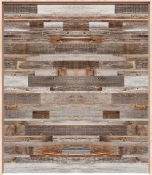 Horizontal Barn Wood Interior Double Door