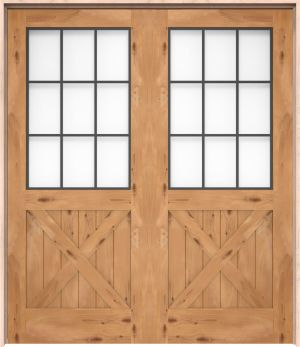 Farmhouse French Half X Interior Double Door