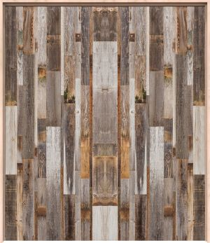 Vertical Barn Wood Interior Double Door