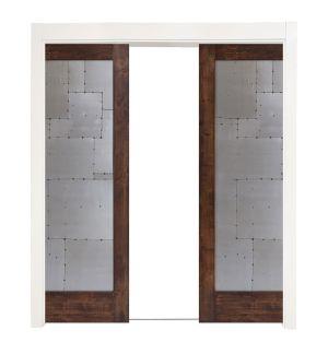 Steampunk Double Converging Pocket Doors
