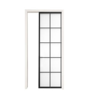 Mountain French Full Single Pocket Door